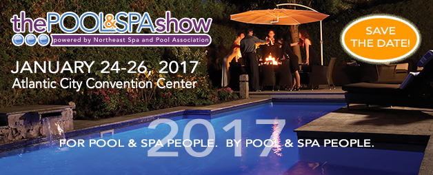 The pool and spa show 2017 for Pool and spa show atlantic city nj